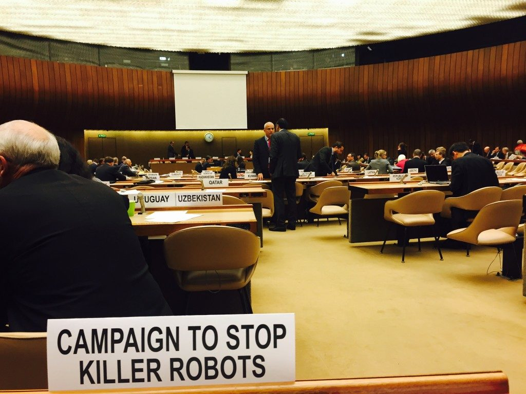 Campaign to stop killer robots. A l'ONU.