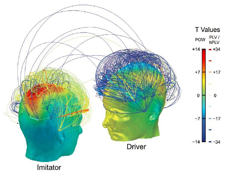 Hyperscanning avec conducteur et imitateur